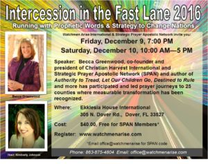 Intercession in the Fast Lane 2016