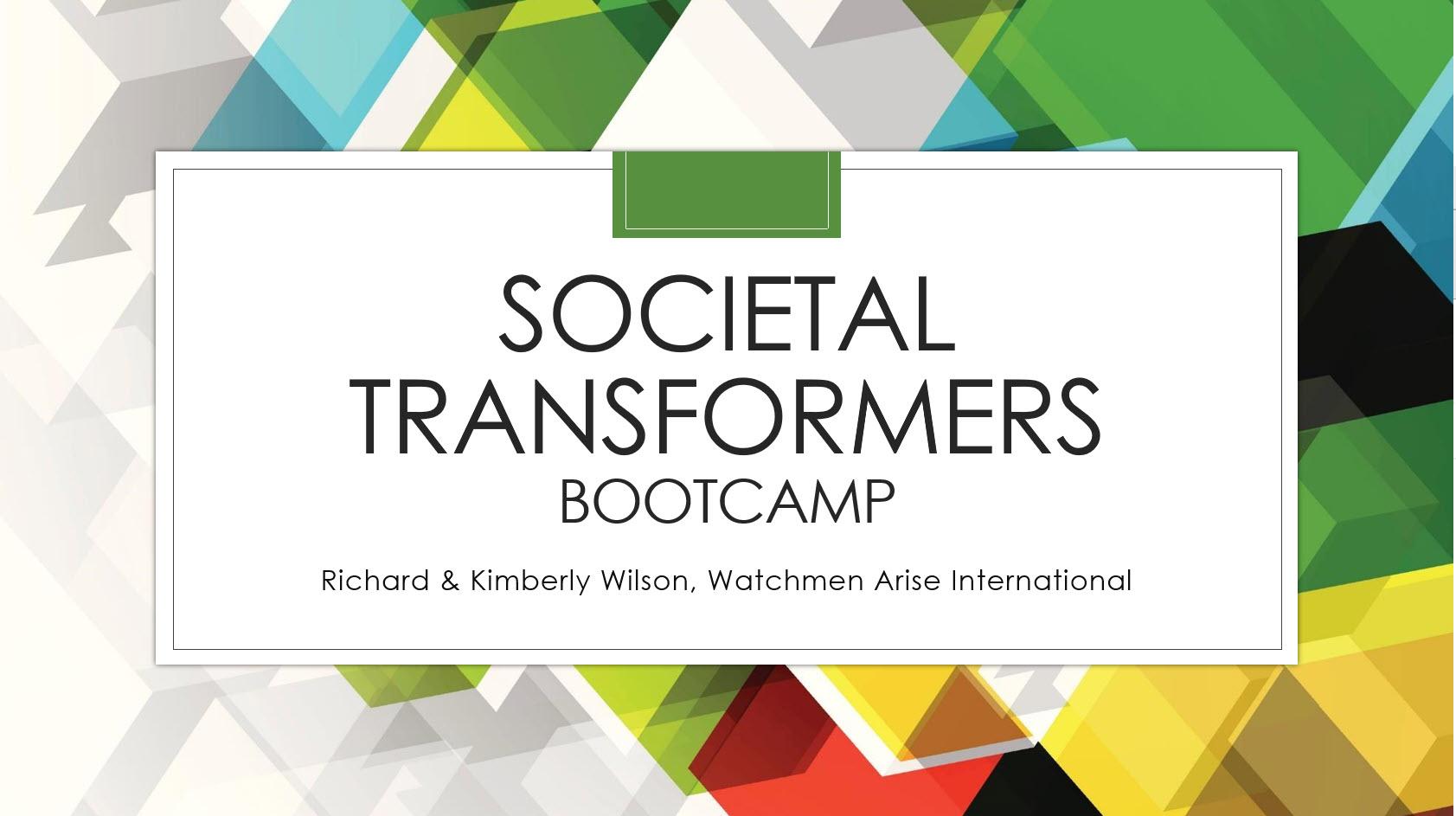 Societal Transformers Bootcamp