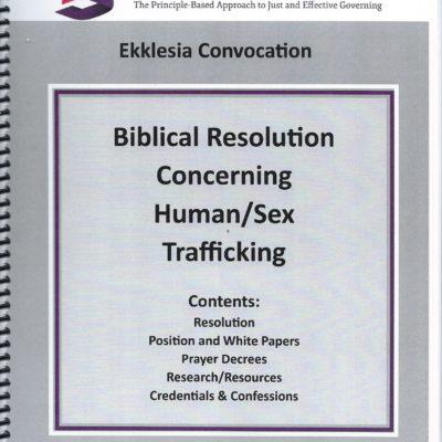 Biblical Resolution Concerning Human/Sex Trafficking